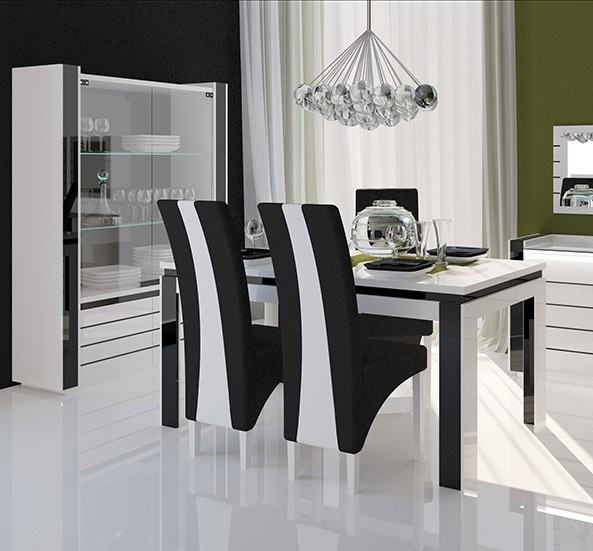chaise salle a manger noir et blanc id es de d coration int rieure french decor. Black Bedroom Furniture Sets. Home Design Ideas