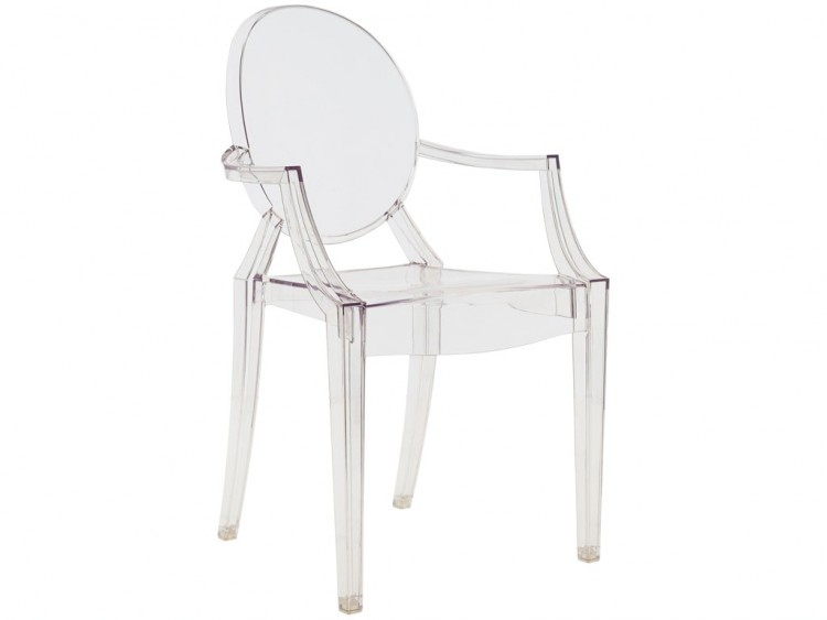 Chaise Transparente Accoudoir