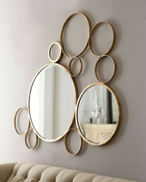 Beautiful Idee Deco Avec Miroir Rond Photos - Awesome Interior Home ...