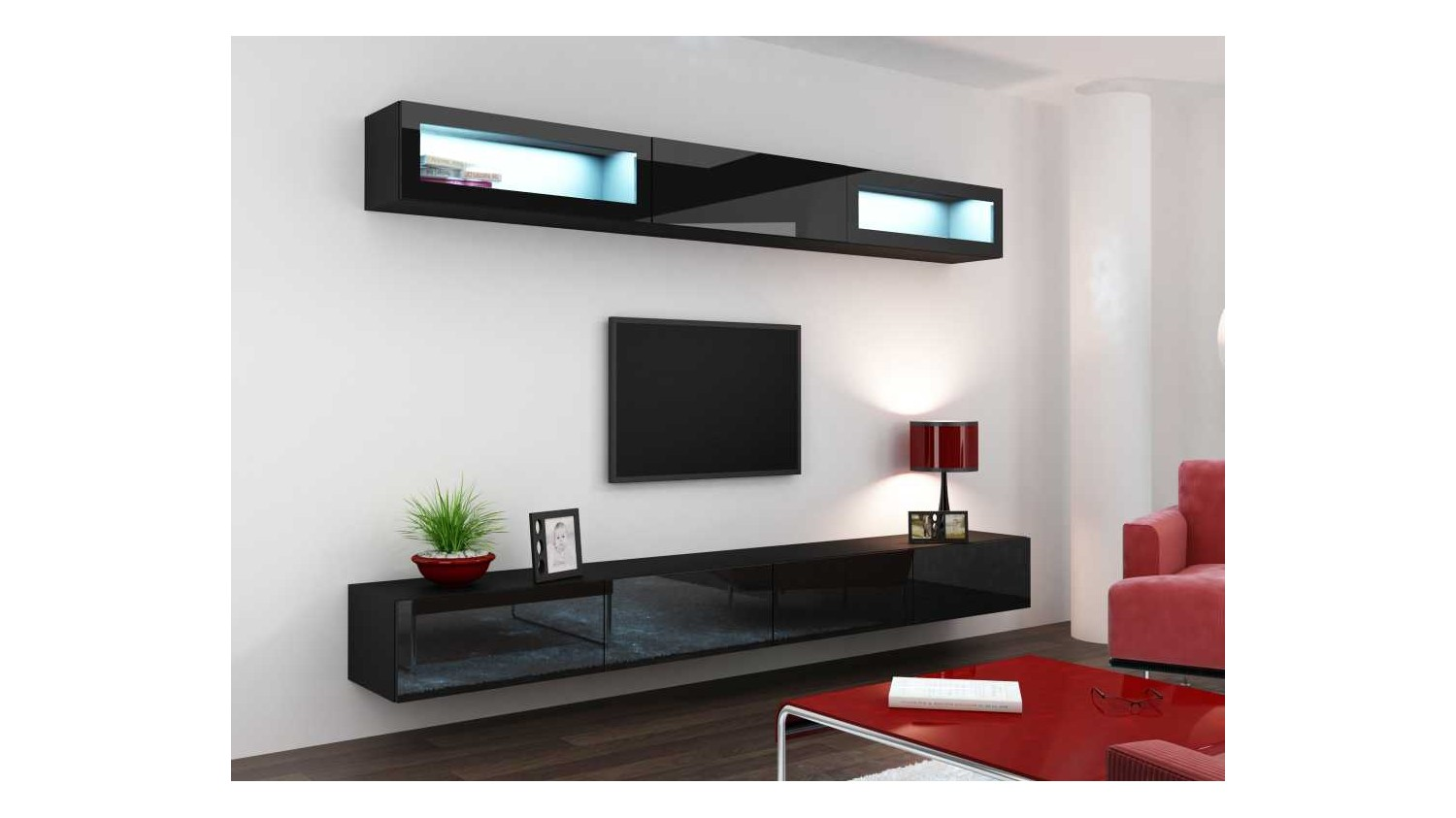 meuble sous tv suspendu id es de d coration int rieure french decor. Black Bedroom Furniture Sets. Home Design Ideas