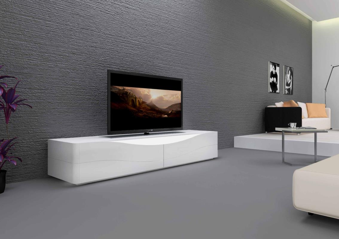 Meuble tv bas blanc id es de d coration int rieure for Des idees de decoration interieure