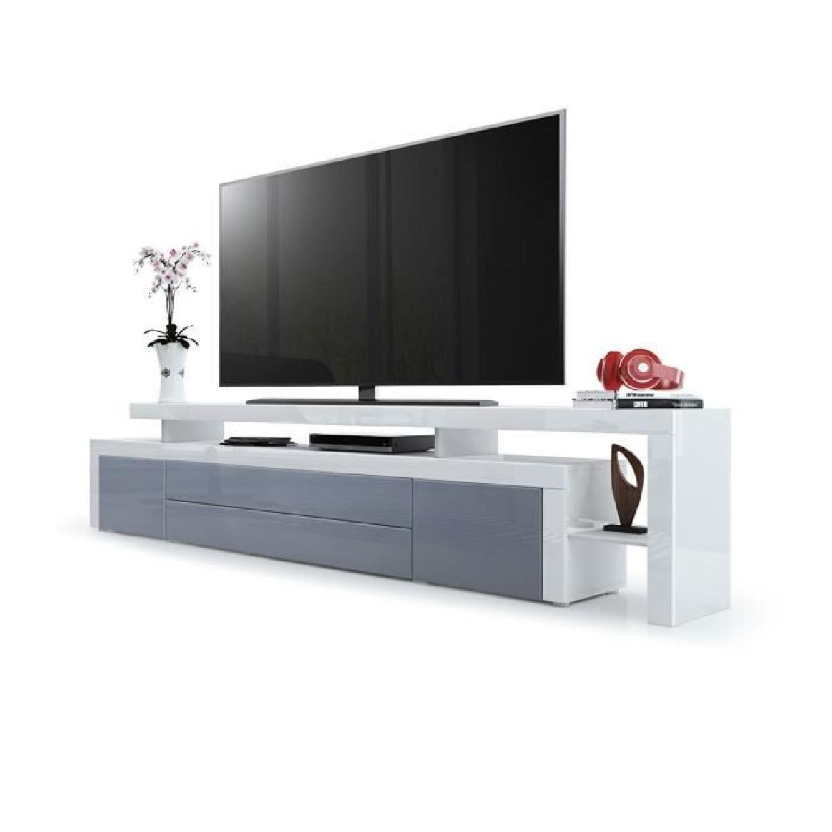 meuble tv blanc et gris laqu id es de d coration int rieure french decor. Black Bedroom Furniture Sets. Home Design Ideas