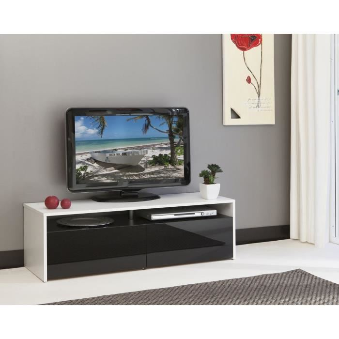meuble tv blanc et noir id es de d coration int rieure. Black Bedroom Furniture Sets. Home Design Ideas