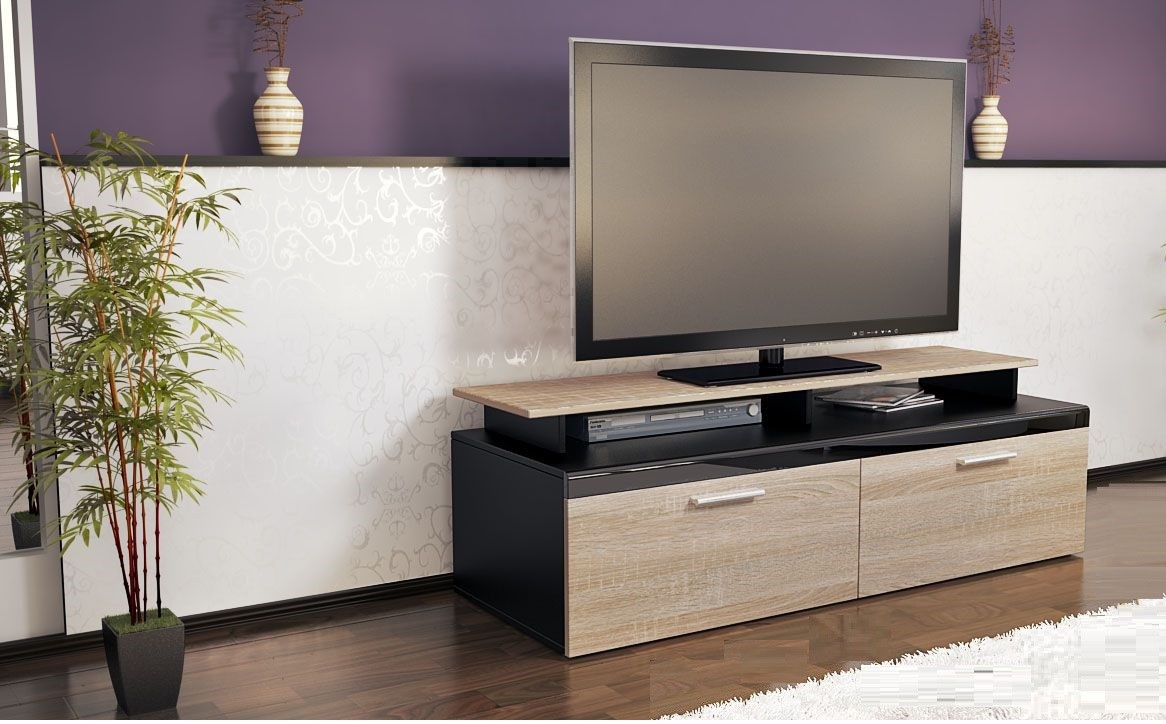 meuble tv bois et noir 19 id es de d coration int rieure french decor. Black Bedroom Furniture Sets. Home Design Ideas