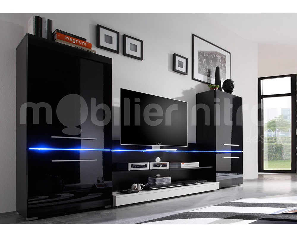 meuble tv mural noir id es de d coration int rieure french decor. Black Bedroom Furniture Sets. Home Design Ideas