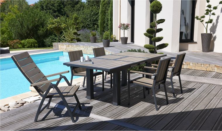 Best Table De Jardin Bois Blanc Gallery - Awesome Interior Home ...
