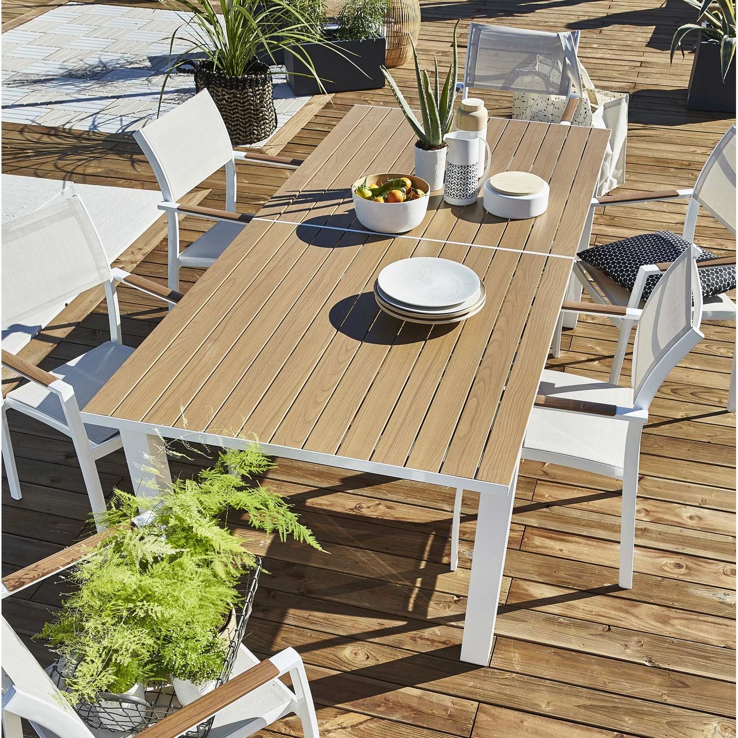 Salon de jardin bois blanc id es de d coration int rieure french decor - Salon de jardin en bois intermarche ...