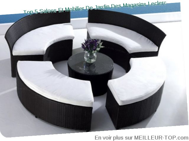 Stunning salon de jardin tresse noir leclerc pictures awesome interior home satellite - Salon de jardin resine leclerc ...