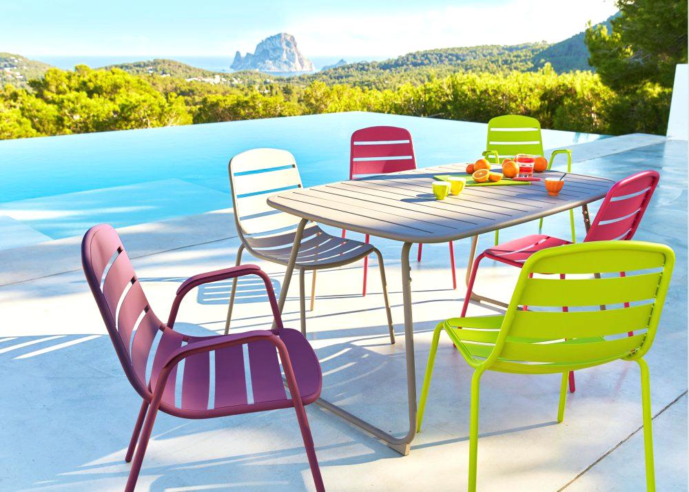 Emejing Table De Jardin Metal Couleur Pictures - House ...