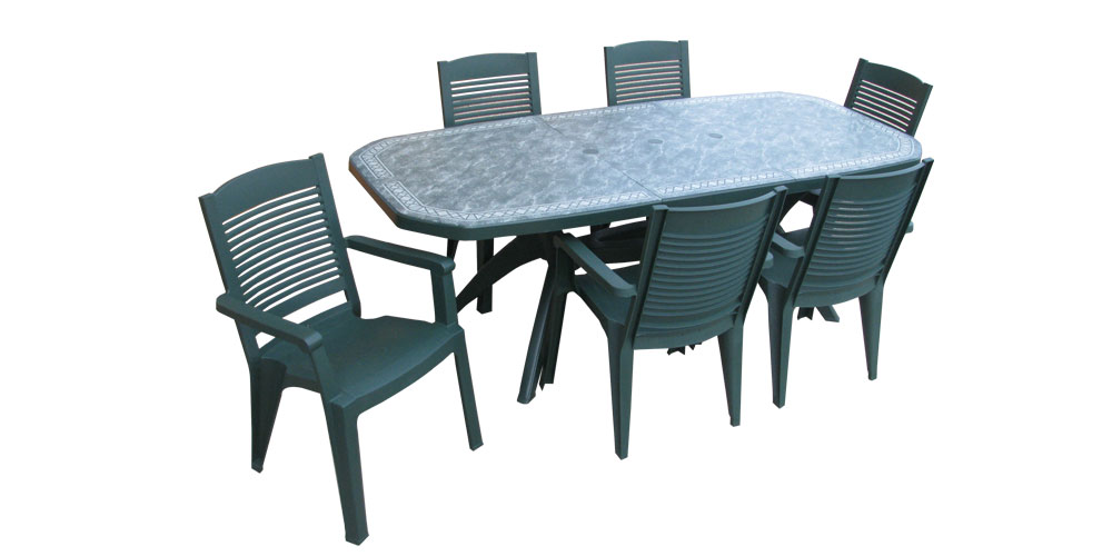 Table De Jardin Plastique Avec Rallonge. Table With Table De Jardin ...
