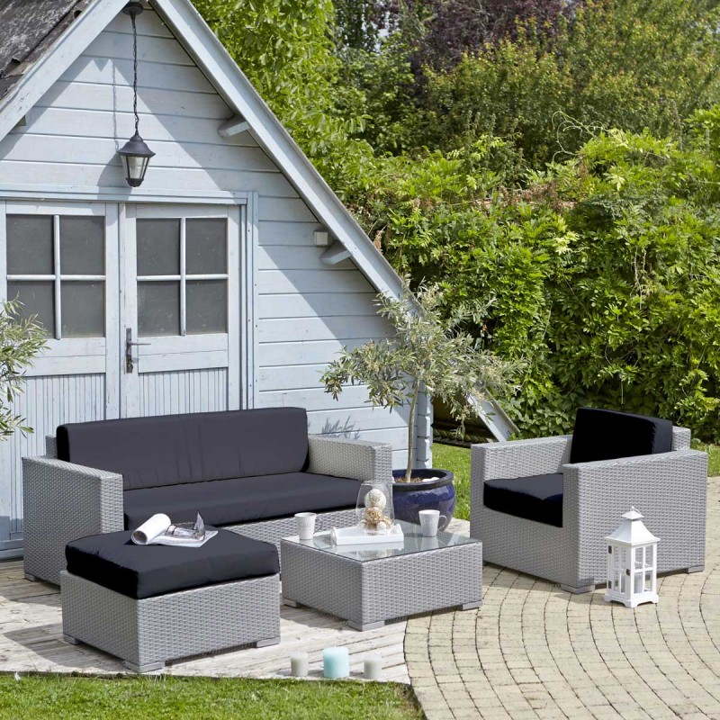 salon de jardin resine gris clair id es de d coration. Black Bedroom Furniture Sets. Home Design Ideas
