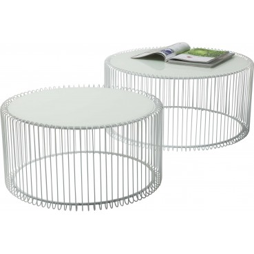 table basse blanche ronde