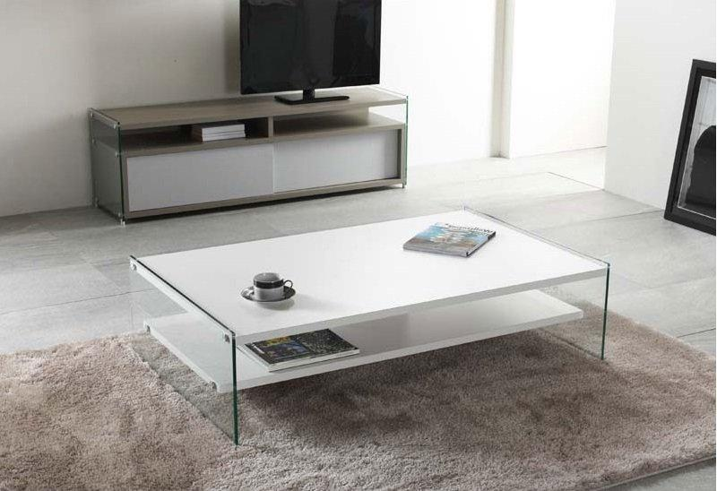 table basse blanche verre id es de d coration int rieure french decor. Black Bedroom Furniture Sets. Home Design Ideas