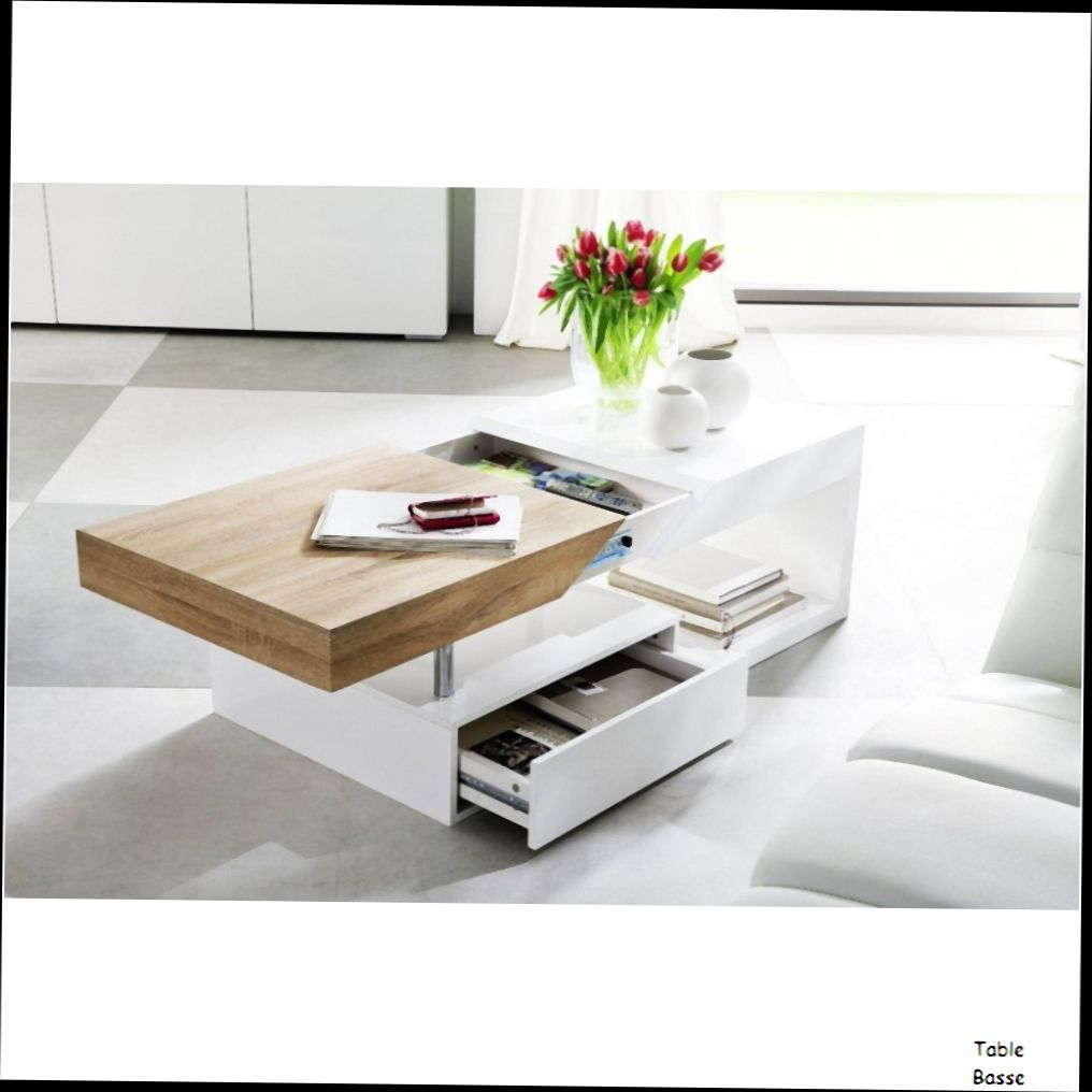 table basse chene et blanc id es de d coration int rieure french decor. Black Bedroom Furniture Sets. Home Design Ideas