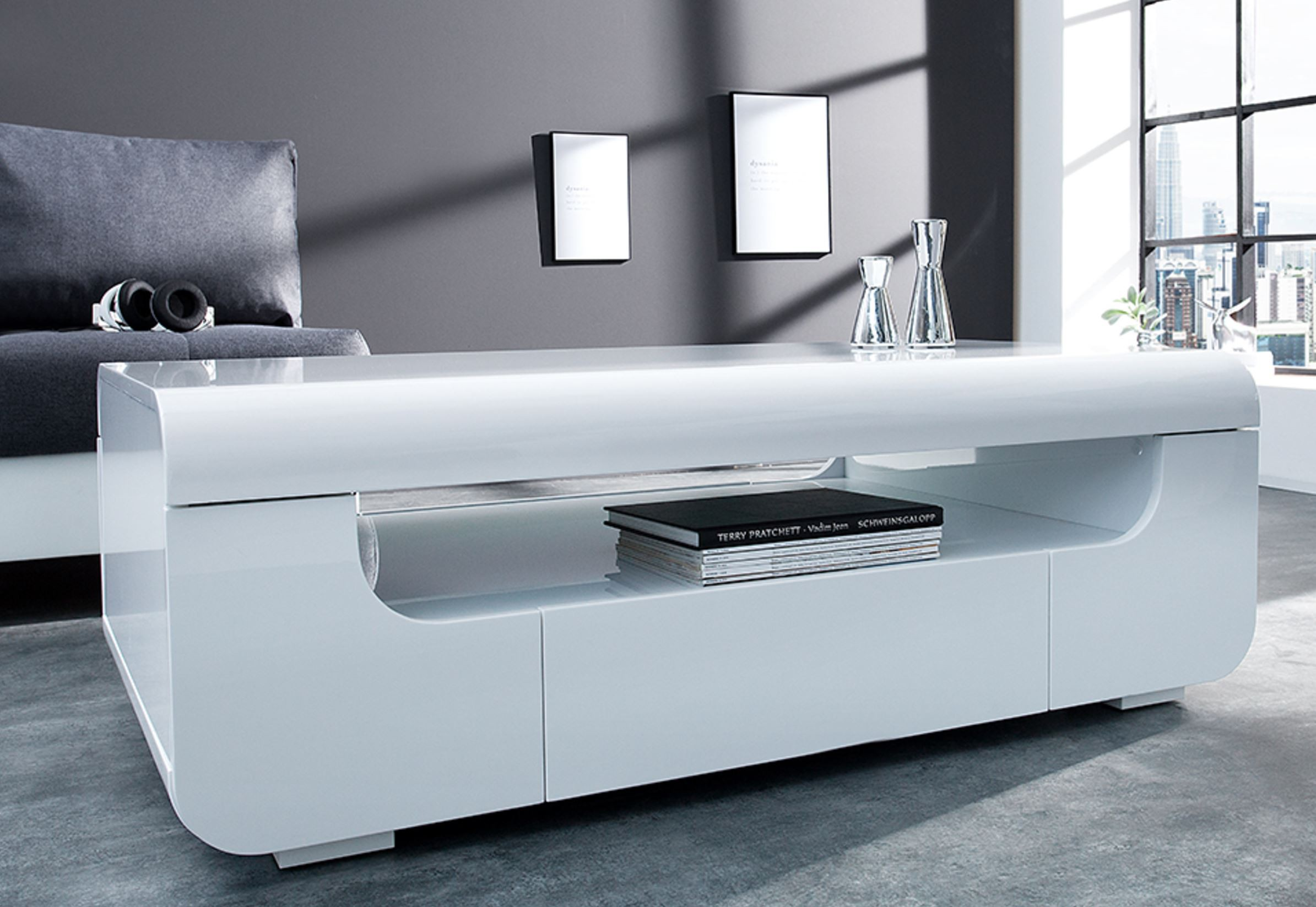 table basse design blanc laqu id es de d coration. Black Bedroom Furniture Sets. Home Design Ideas