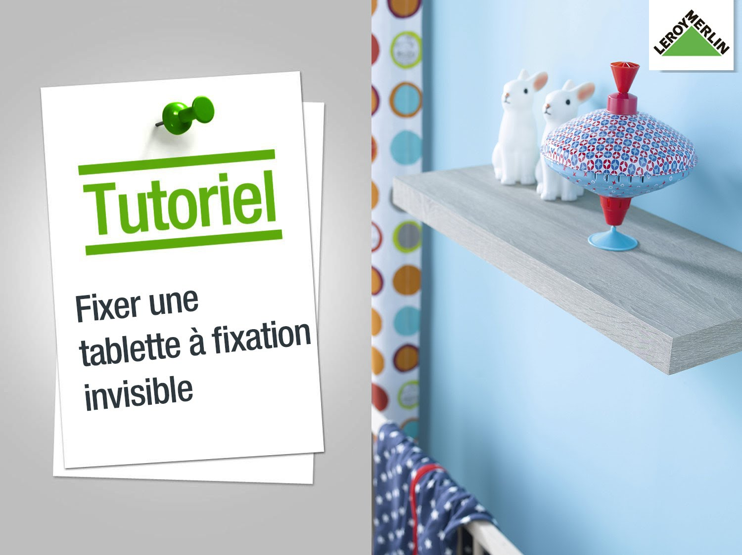 tablette murale fixation invisible