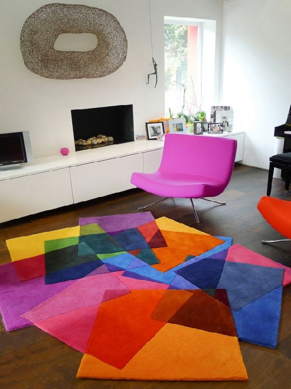 tapis contemporain salon - Tapis Contemporain