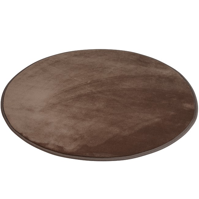 tapis rond taupe