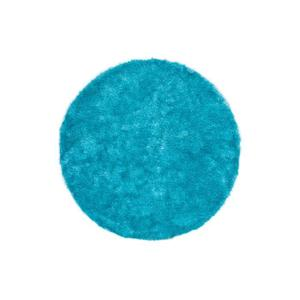 tapis rond turquoise