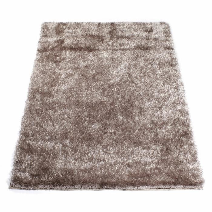 tapis shaggy taupe