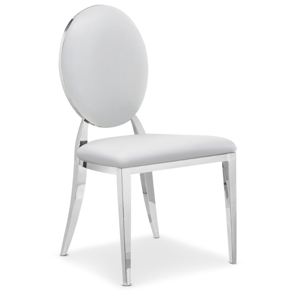 Chaise Medaillon Grise