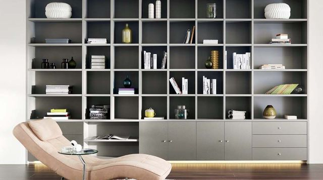 grande biblioth que murale id es de d coration int rieure french decor. Black Bedroom Furniture Sets. Home Design Ideas