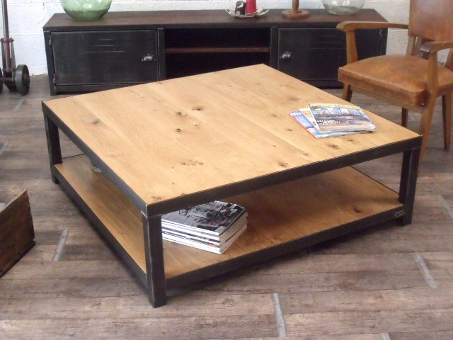 Grande Table Basse Carree Bois Profadisfr
