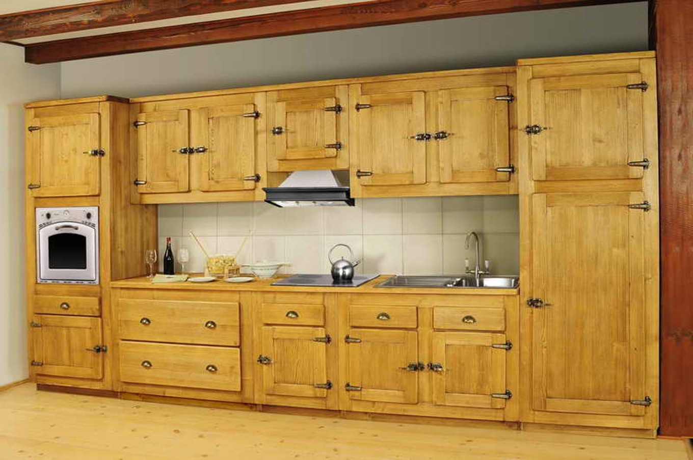 meuble de cuisine en bois massif id es de d coration int rieure french decor. Black Bedroom Furniture Sets. Home Design Ideas