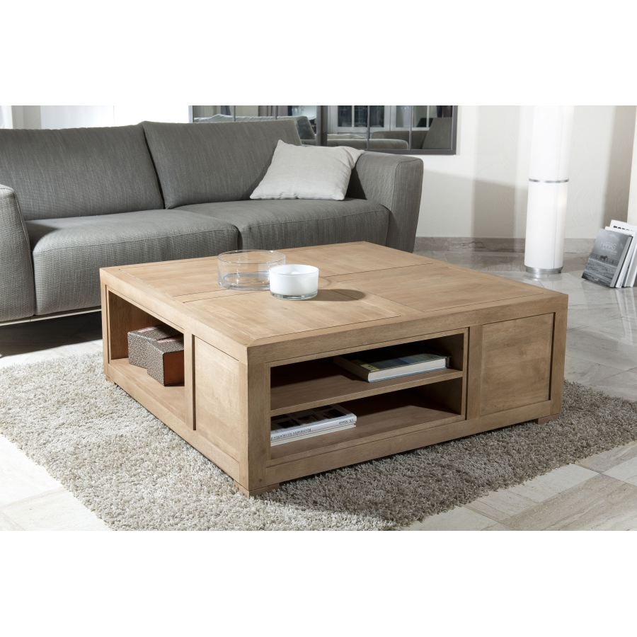 table basse carr e avec rangement id es de d coration. Black Bedroom Furniture Sets. Home Design Ideas