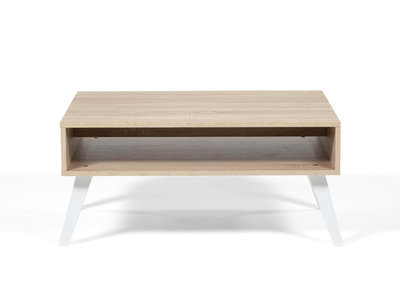 table de salon bois blanc