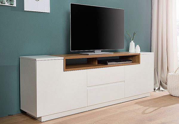 meuble tv 150 cm blanc id es de d coration int rieure french decor. Black Bedroom Furniture Sets. Home Design Ideas