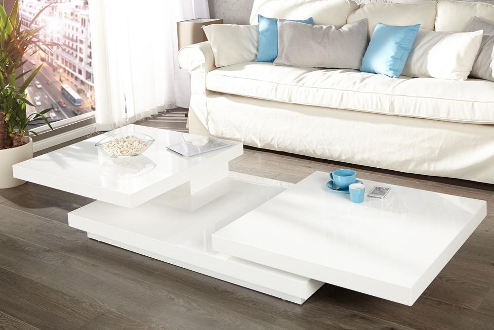 table basse blanche design id es de d coration. Black Bedroom Furniture Sets. Home Design Ideas