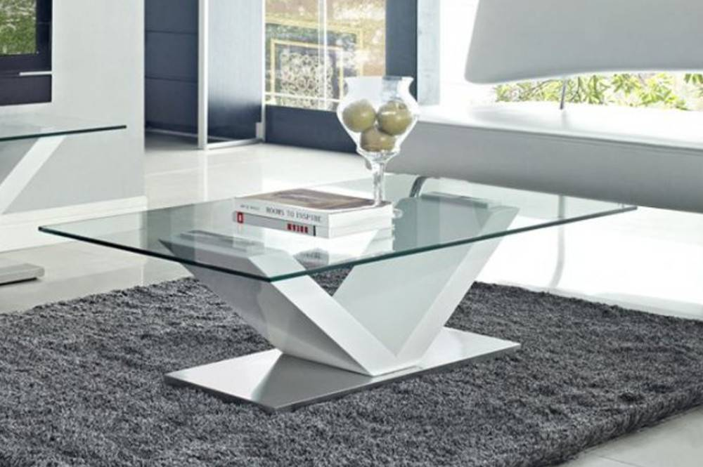 table basse en verre design