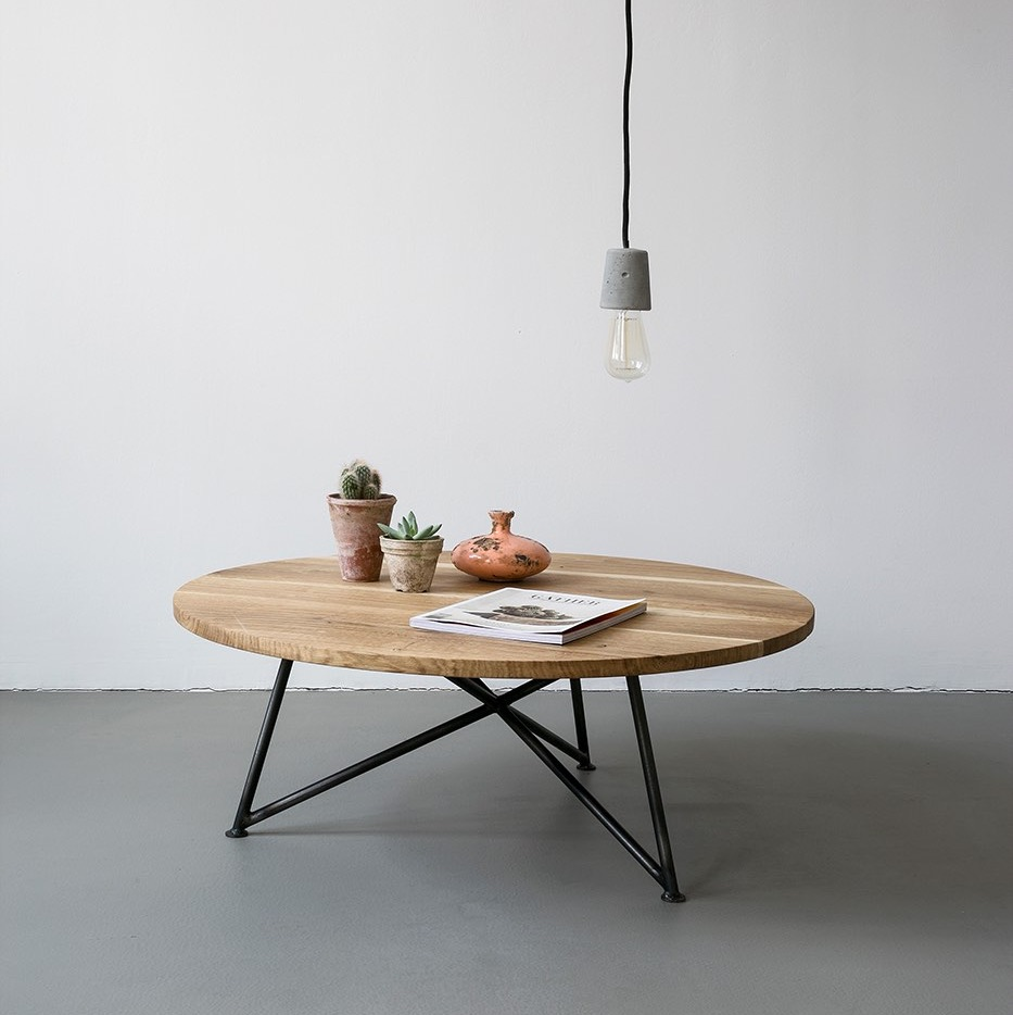 Table Basse Bois Massif Ovale Boutique Gain De Place Fr
