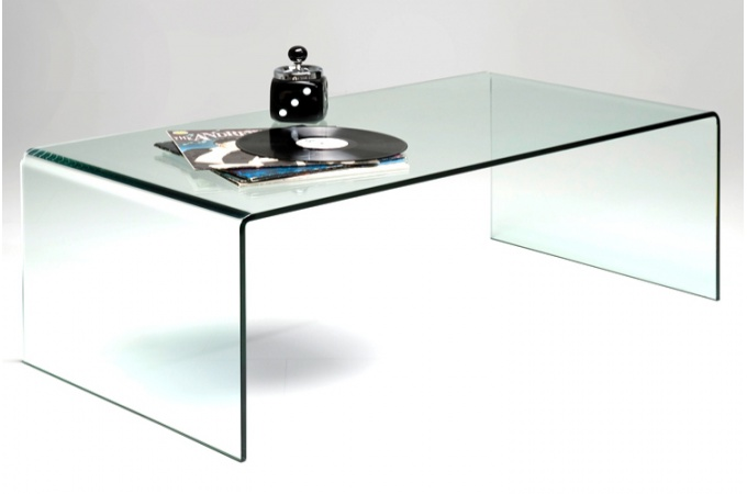 table de salon en verre