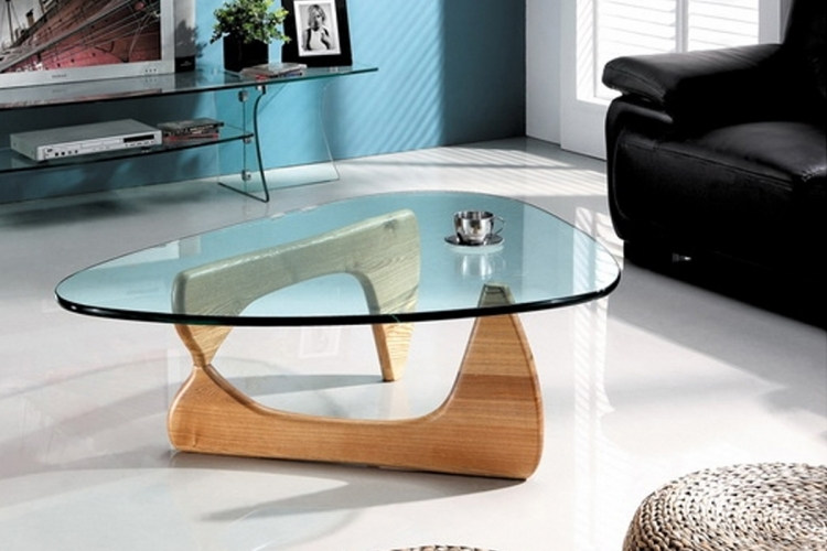 table de salon verre design