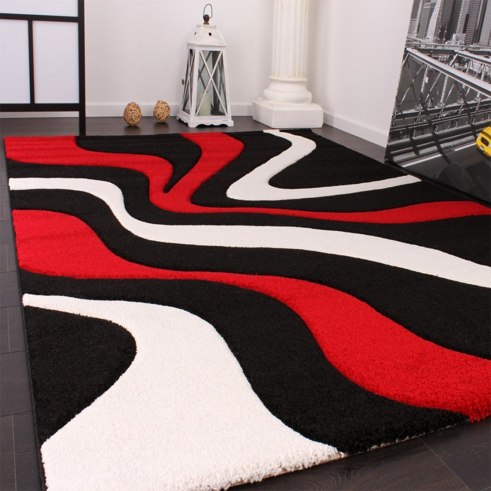 tapis rouge et noir pas cher id es de d coration int rieure french decor. Black Bedroom Furniture Sets. Home Design Ideas