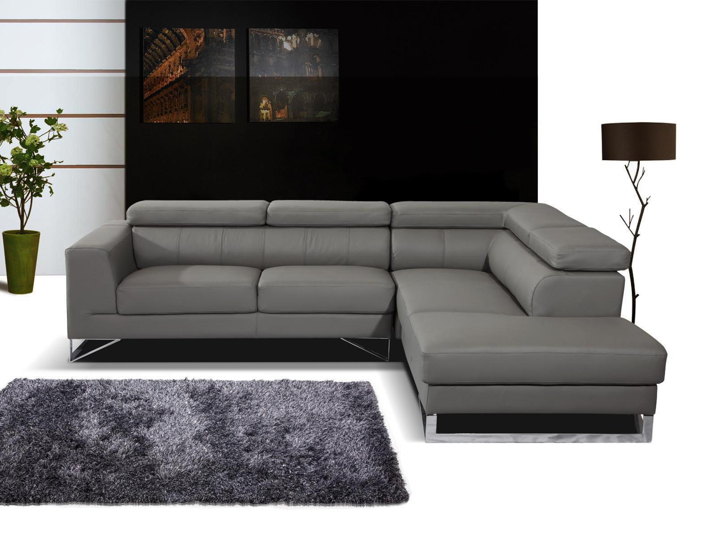 Canape D Angle Cuir Gris Anthracite Idees De Decoration Interieure