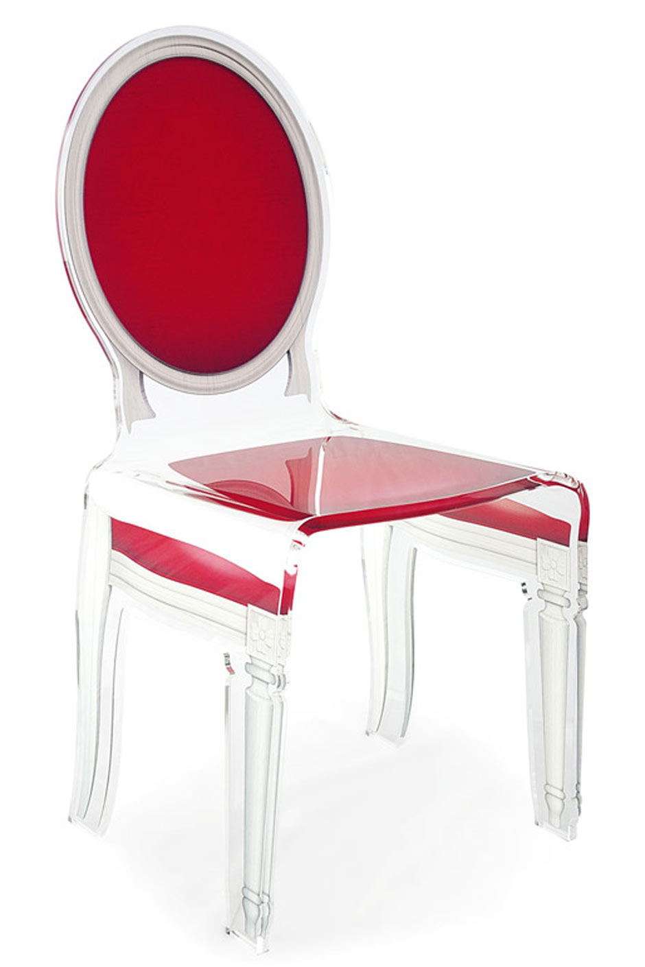 Chaise Rouge Transparente