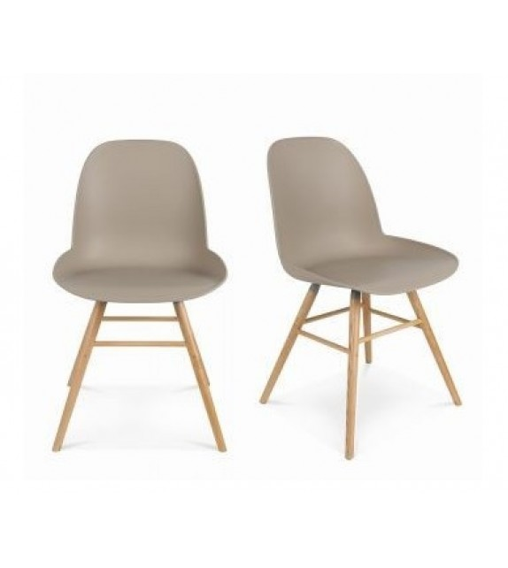 chaise scandinave taupe