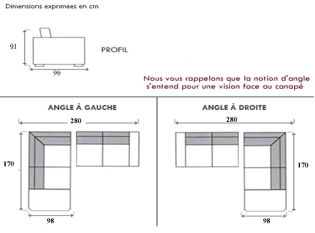 Dimension Canapé D Angle