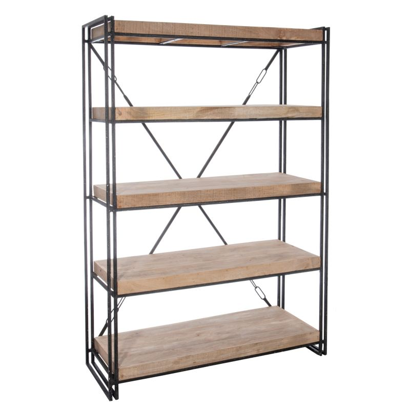 etagere bibliotheque bois metal id es de d coration int rieure french decor. Black Bedroom Furniture Sets. Home Design Ideas