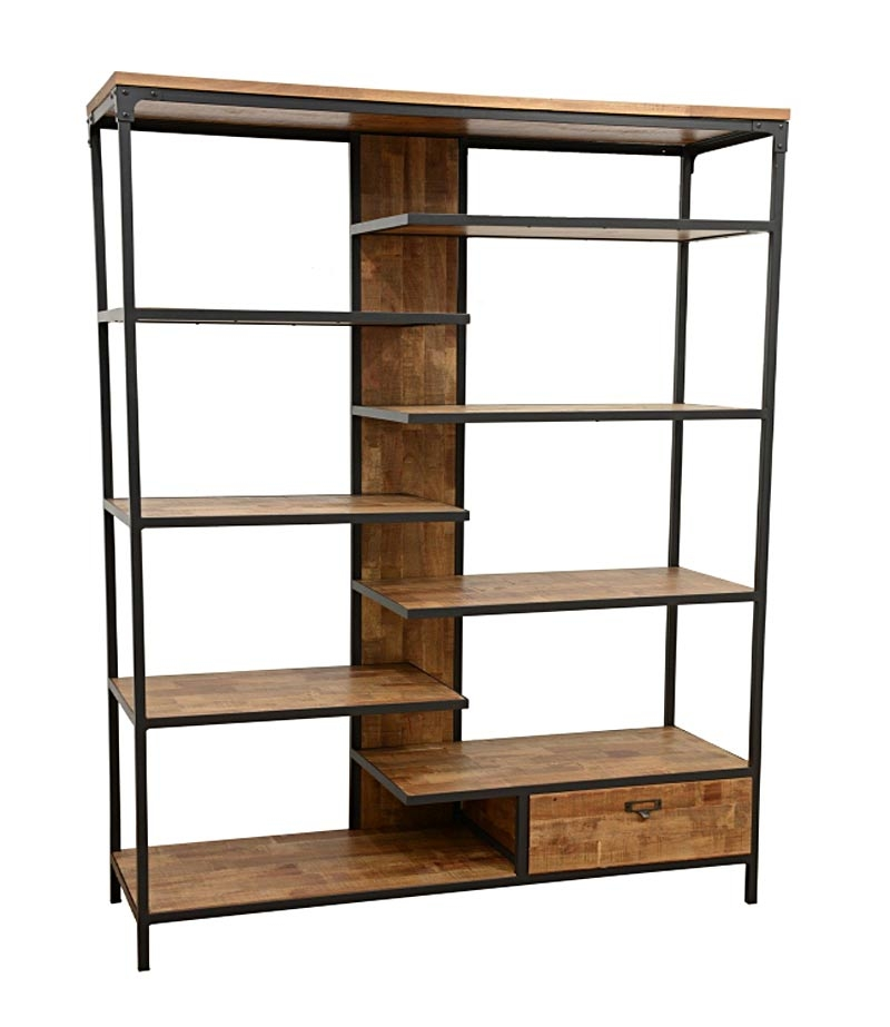 etagere bois fer id es de d coration int rieure french decor. Black Bedroom Furniture Sets. Home Design Ideas