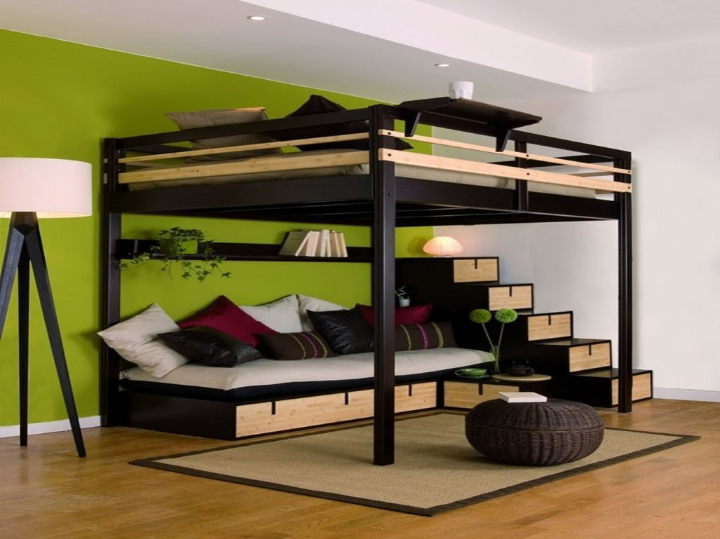 lit mezzanine 2 places id es de d coration int rieure french decor. Black Bedroom Furniture Sets. Home Design Ideas