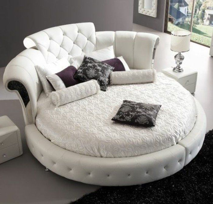 lit design rond latest structure de lit lit avec matelas led x cm rond cuir artifi with lit. Black Bedroom Furniture Sets. Home Design Ideas
