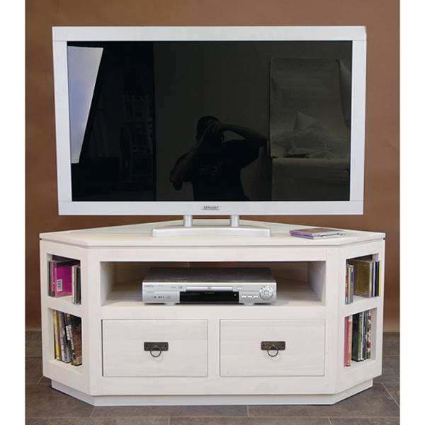 meuble d angle tv blanc id es de d coration int rieure. Black Bedroom Furniture Sets. Home Design Ideas
