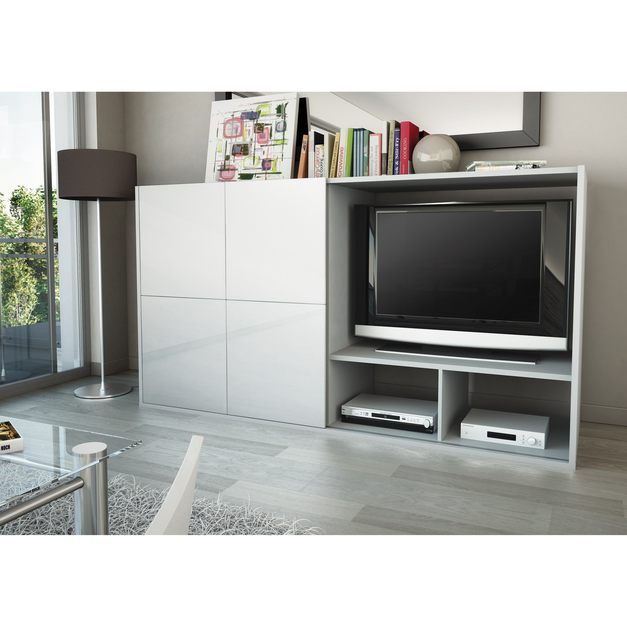 meuble tv porte coulissante id es de d coration. Black Bedroom Furniture Sets. Home Design Ideas