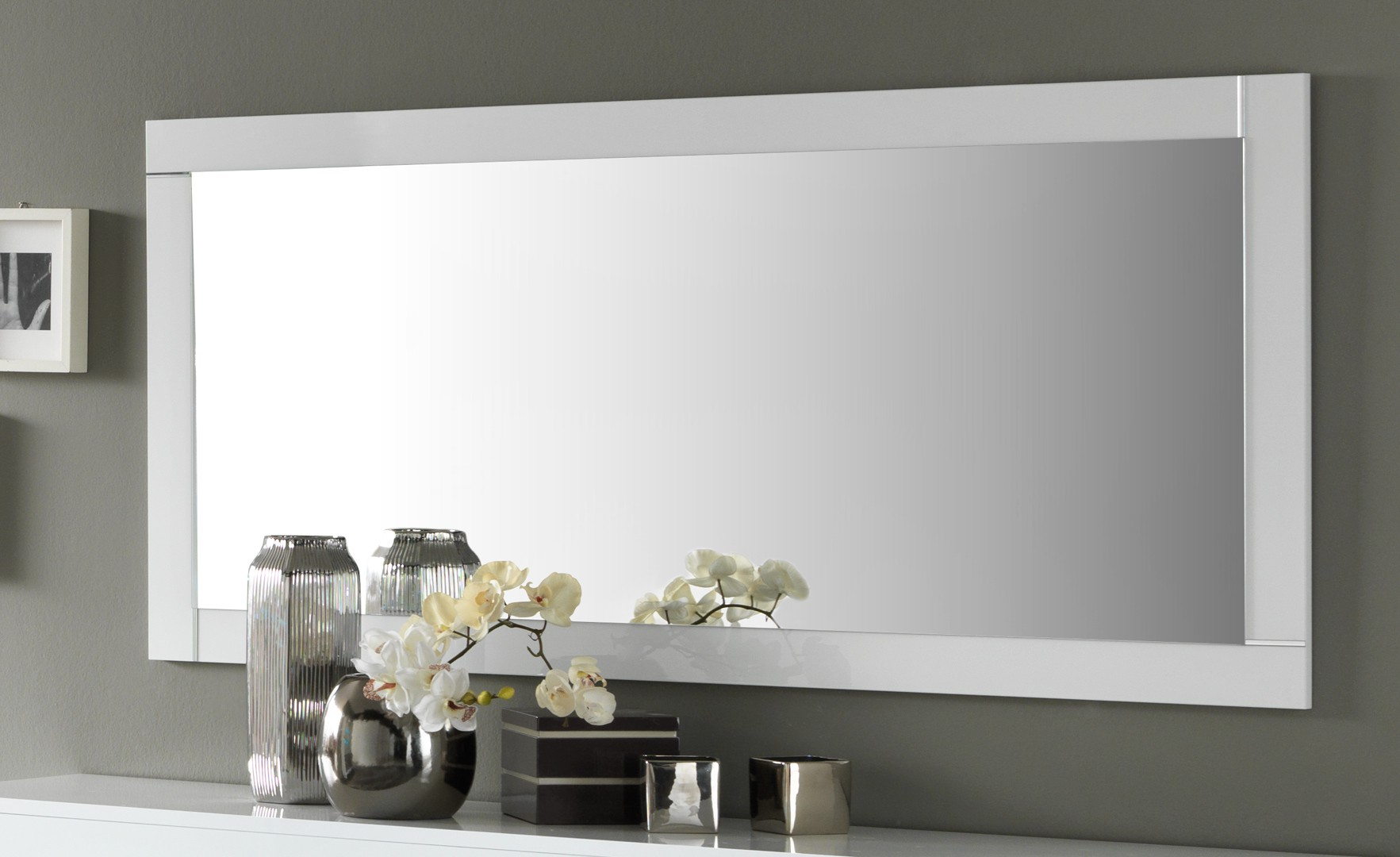 miroir rectangulaire blanc id es de d coration int rieure french decor. Black Bedroom Furniture Sets. Home Design Ideas