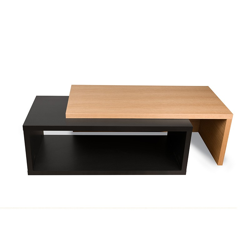 table basse noir et bois id es de d coration int rieure. Black Bedroom Furniture Sets. Home Design Ideas