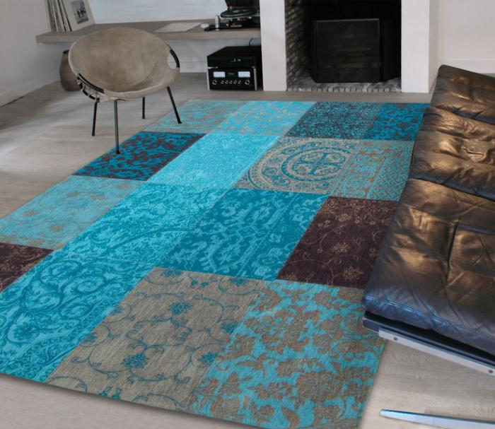 Best Tapis Marron Et Bleu Contemporary - House Design - marcomilone.com